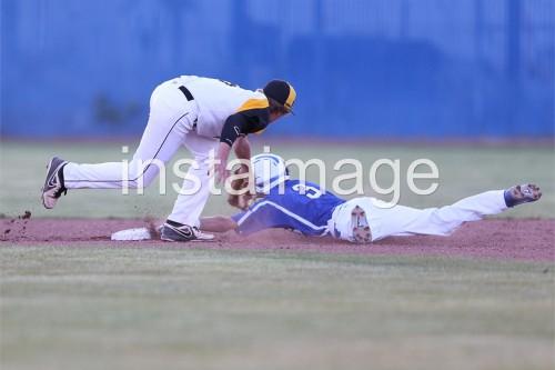 130508_Carson High Baseball Playoffs_Dom sliding under
