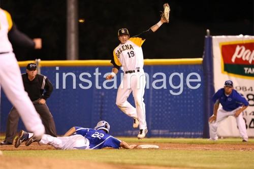 130508_Galena High Baseball Playoffs_First base safe